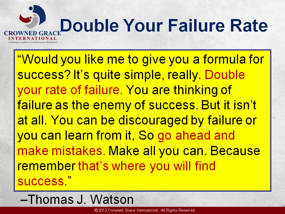 Double Your Failure Rate